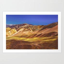 Colored Mountains Landscape, La Rioja, Argentina Art Print