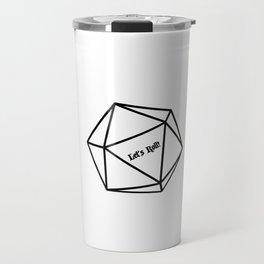 Let's Roll! D20 Travel Mug