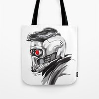 star lord Tote Bags featuring Star Lord by Dik Low