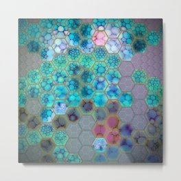 Onion cell hexagons Metal Print