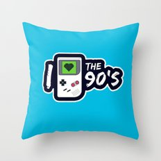 I Heart the 90's Throw Pillow