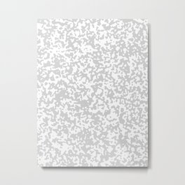 Small Spots - White and Light Gray Metal Print
