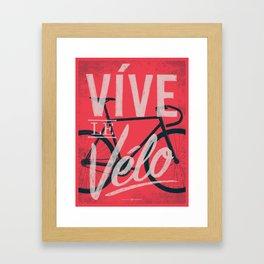 Vive Le Velo 2011 Framed Art Print
