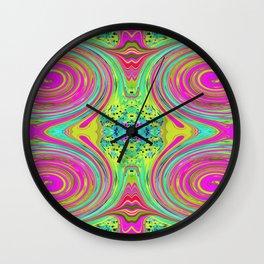 Groovy Abstract Pink Swirl Art 094 Pattern Wall Clock