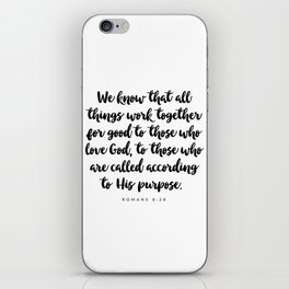 Romans 8:28 - Bible Verse iPhone Skin