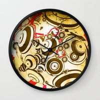 dragon ball Wall Clocks featuring ball by echo3005
