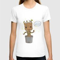 groot T-shirts featuring Groot by Lalu - Laura Vargas