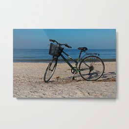 Bike on Barefoot Beach II Metal Print
