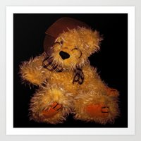 teddy bear Art Prints featuring Teddy by Doug McRae