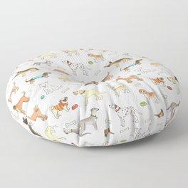 Breeds of Dog Floor Pillow