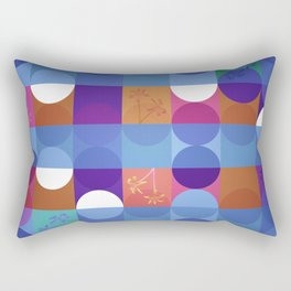 Game of circles with flowers Rectangular Pillow