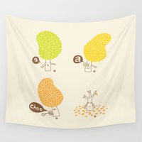 ilovedoodle Wall Tapestries featuring Season sneeze by I Love Doodle