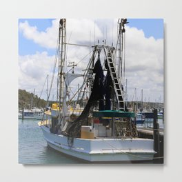 Fishing boat ready to go Metal Print