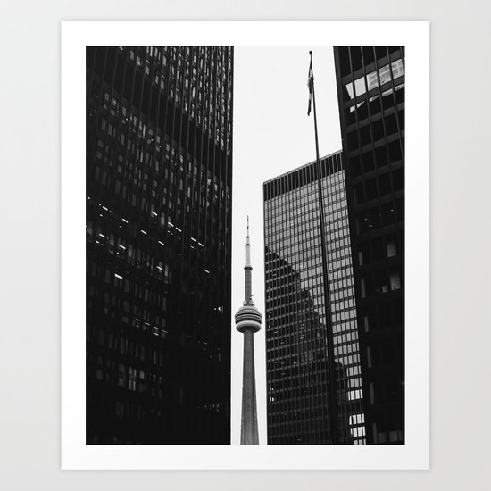 CN Tower Between Buildings by paumzito
