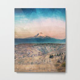 Desert Mountain Adventure - Nature Photography Metal Print