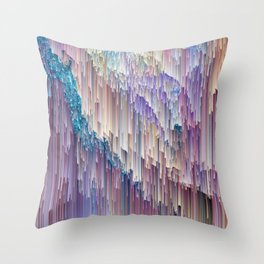 Dripping Rainbow Throw Pillow