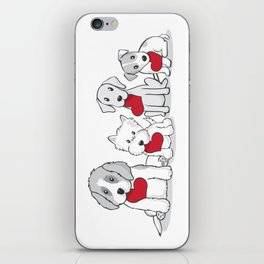 Valentine's Day Dogs iPhone Skin