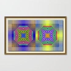 Twin Mandalas II Canvas Print
