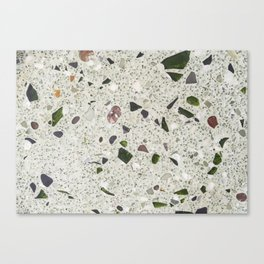 green Terrazzo Canvas Print