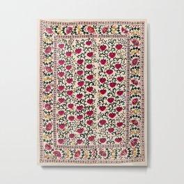 Garden Suzani East Uzbekistan Embroidery Print Metal Print