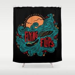FlyingFlips Shower Curtain
