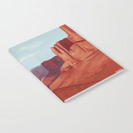 Red Landscape Notebook