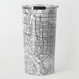 Taipei White Map Travel Mug