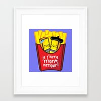 french fries Framed Art Prints featuring French Fries by Kleviee