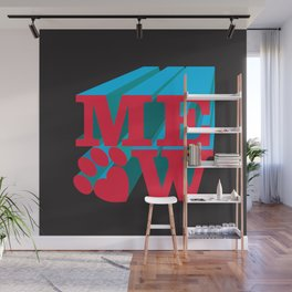 MEOW paw Wall Mural