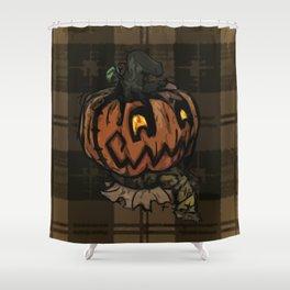 Patchwork Jack o' lantern Shower Curtain
