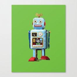 Retro Tin Toy Robot Polygon Art Canvas Print