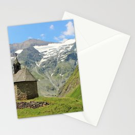 Church in the mountains Stationery Cards