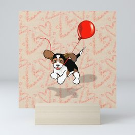 The Love Puppy — Balloon Mini Art Print