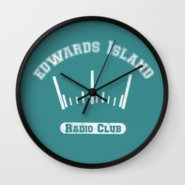 Edwards Island Radio Club Wall Clock