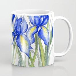 Blue Iris, Illustration Coffee Mug