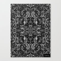 Top Hat Black and White Canvas Print
