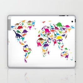 Dinosaur Map of the World Map Laptop & iPad Skin