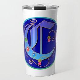 Initial Letter C Travel Mug