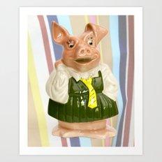 Nat West Piggy Bank Ceramics Art Print