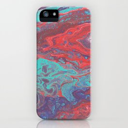 Intrusion - Abstract in Teal, Purple, Red iPhone Case
