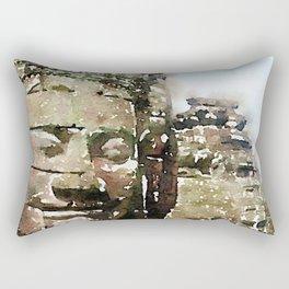 Bayon Temple, Cambodia Rectangular Pillow