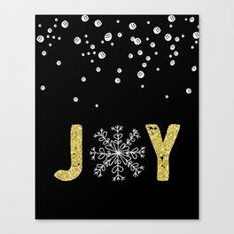 JOY w/White Snowflakes Canvas Print