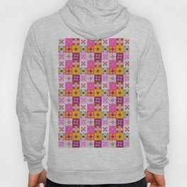 Maroccan tiles pattern with pink no4 Hoody