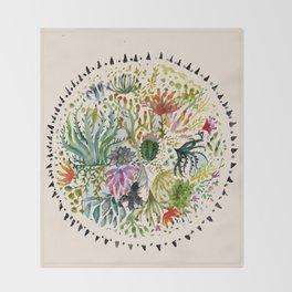 Succulents Mandala Throw Blanket