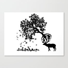 Elk-Naturalle Canvas Print