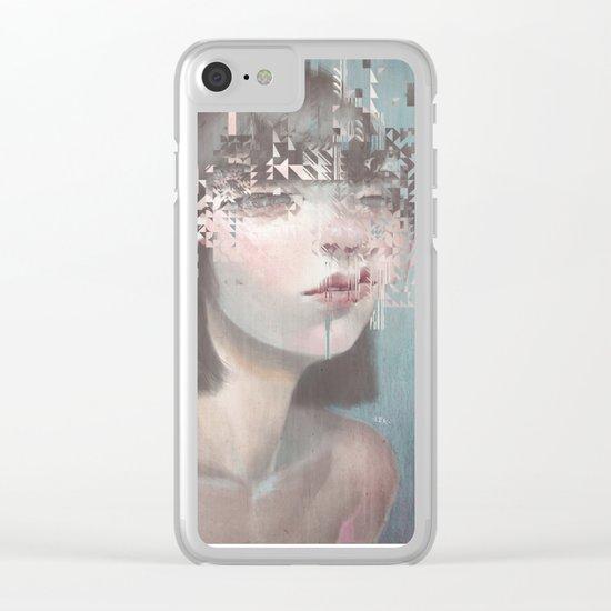 Glitch 02 Clear iPhone Case
