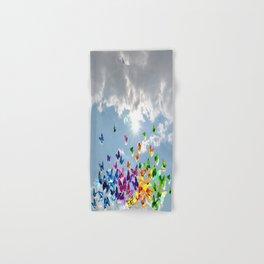 Butterflies in blue sky Hand & Bath Towel