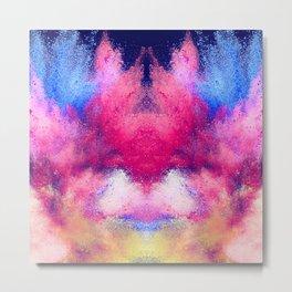 Powder Dust Explosion Nebula of Colors Metal Print
