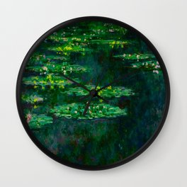 Claude Monet Impressionist Landscape Oil Painting Waterlilies Wall Clock