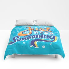 Just Keep Swimming Comforters